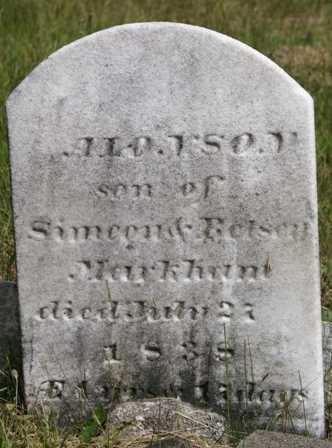 MARKHAM, ALONSON - Lewis County, New York | ALONSON MARKHAM - New York Gravestone Photos