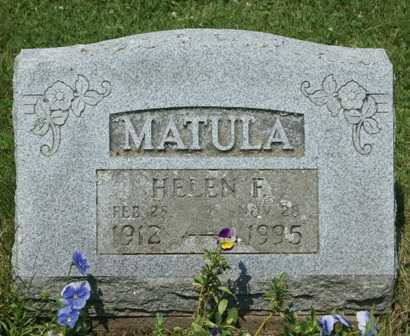 MATULA, HELEN F. - Lewis County, New York | HELEN F. MATULA - New York Gravestone Photos