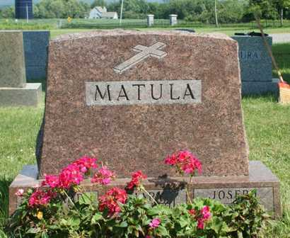 MATULA, MARY - Lewis County, New York | MARY MATULA - New York Gravestone Photos