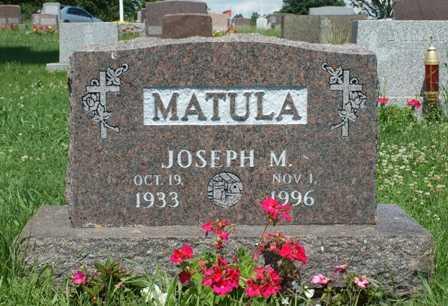 MATULA, JOSEPH M. - Lewis County, New York   JOSEPH M. MATULA - New York Gravestone Photos