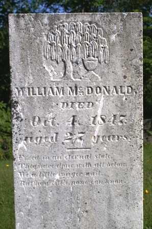 MCDONALD, WILLIAM - Lewis County, New York | WILLIAM MCDONALD - New York Gravestone Photos