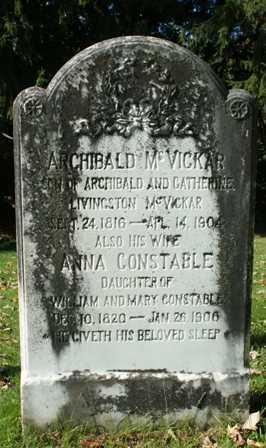 CONSTABLE MCVICKAR, ANNA - Lewis County, New York | ANNA CONSTABLE MCVICKAR - New York Gravestone Photos