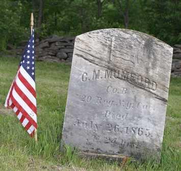 MUMFORD (CW), C. M. - Lewis County, New York   C. M. MUMFORD (CW) - New York Gravestone Photos