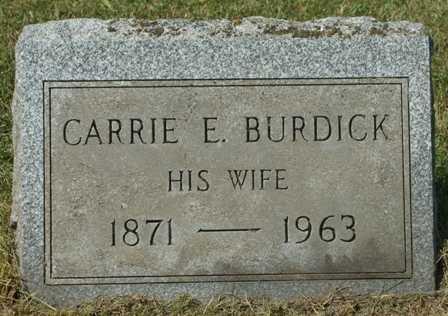 BURDICK, CARRIE E - Lewis County, New York | CARRIE E BURDICK - New York Gravestone Photos