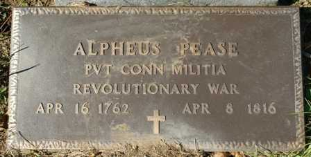 PEASE (RW), ALPHEUS - Lewis County, New York | ALPHEUS PEASE (RW) - New York Gravestone Photos