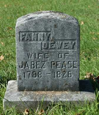 DEWEY PEASE, FANNY - Lewis County, New York | FANNY DEWEY PEASE - New York Gravestone Photos