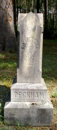 PECKHAM, B. I. - Lewis County, New York | B. I. PECKHAM - New York Gravestone Photos