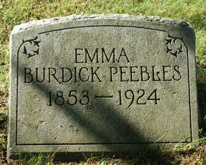 BURDICK, EMMA - Lewis County, New York | EMMA BURDICK - New York Gravestone Photos