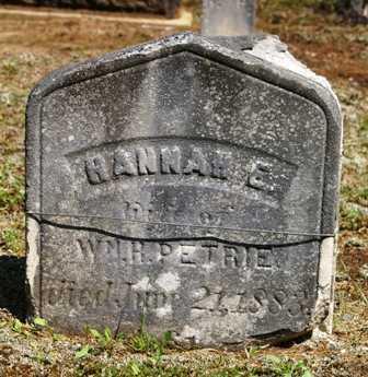 PETRIE, HANNAH E. - Lewis County, New York   HANNAH E. PETRIE - New York Gravestone Photos