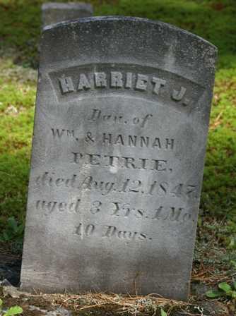 PETRIE, HARRIET J. - Lewis County, New York   HARRIET J. PETRIE - New York Gravestone Photos