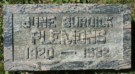 BURDICK, JUNE - Lewis County, New York | JUNE BURDICK - New York Gravestone Photos
