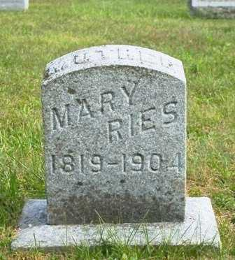 RIES, MARY - Lewis County, New York | MARY RIES - New York Gravestone Photos