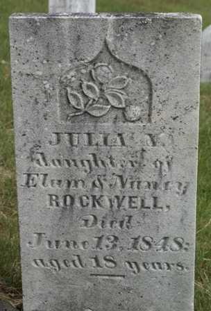 ROCKWELL, JULIA N. - Lewis County, New York   JULIA N. ROCKWELL - New York Gravestone Photos