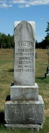 SECOR ROEDER, MINNIE - Lewis County, New York | MINNIE SECOR ROEDER - New York Gravestone Photos