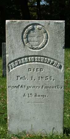 SCHOPFER, FREDERIC - Lewis County, New York | FREDERIC SCHOPFER - New York Gravestone Photos
