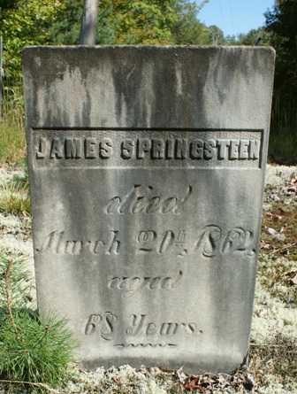 SPRINGSTEEN, JAMES - Lewis County, New York | JAMES SPRINGSTEEN - New York Gravestone Photos