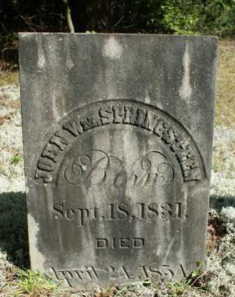 SPRINGSTEEN, JOHN WILLIAM - Lewis County, New York | JOHN WILLIAM SPRINGSTEEN - New York Gravestone Photos