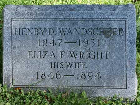 WANDSCHEER, ELIZA F. - Lewis County, New York | ELIZA F. WANDSCHEER - New York Gravestone Photos