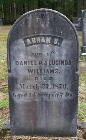 WILLIAMS, ABRAM S. - Lewis County, New York | ABRAM S. WILLIAMS - New York Gravestone Photos