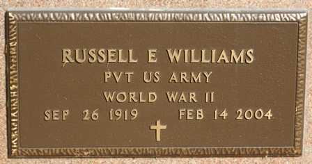 WILLIAMS, RUSSELL E. - Lewis County, New York | RUSSELL E. WILLIAMS - New York Gravestone Photos