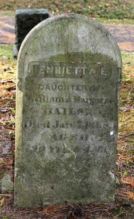 BAILOR, HENRIETTA E. - Livingston County, New York | HENRIETTA E. BAILOR - New York Gravestone Photos