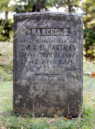 HARTMAN, FRANCES S. - Livingston County, New York | FRANCES S. HARTMAN - New York Gravestone Photos