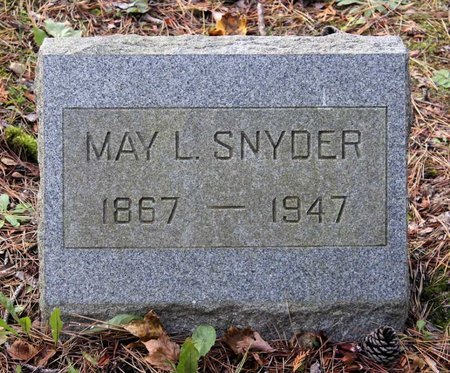 HARTMAN SNYDER, MAY L. - Livingston County, New York   MAY L. HARTMAN SNYDER - New York Gravestone Photos