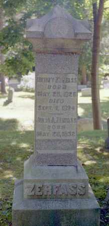 ZERFASS, HENRY - Livingston County, New York | HENRY ZERFASS - New York Gravestone Photos