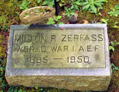 ZERFASS (WWI), MILTON ROWE - Livingston County, New York | MILTON ROWE ZERFASS (WWI) - New York Gravestone Photos