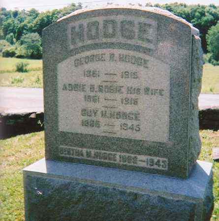 ROBIE HODGE, ABBIE D. - Madison County, New York | ABBIE D. ROBIE HODGE - New York Gravestone Photos