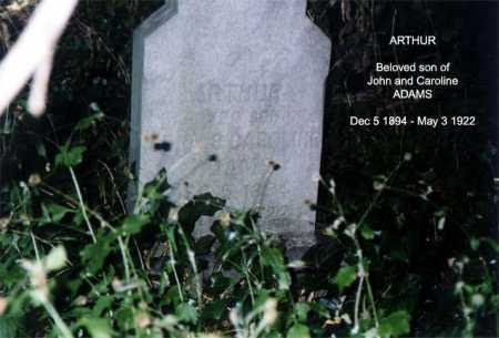 ADAMS, ARTHUR - Monroe County, New York | ARTHUR ADAMS - New York Gravestone Photos