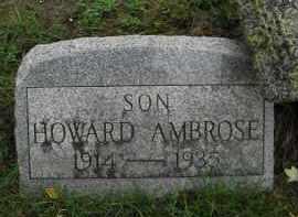 AMBROSE, HOWARD - Monroe County, New York | HOWARD AMBROSE - New York Gravestone Photos