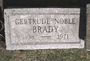 NOBLE BRADY, GERTRUDE - Monroe County, New York | GERTRUDE NOBLE BRADY - New York Gravestone Photos