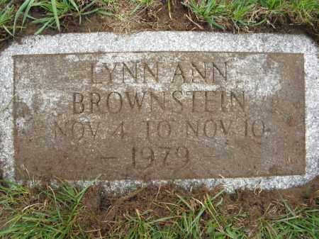 BROWNSTEIN, LYNN ANN - Monroe County, New York   LYNN ANN BROWNSTEIN - New York Gravestone Photos