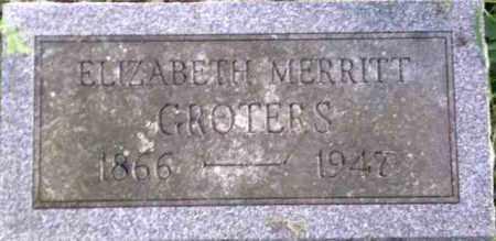 MERRITT GROTERS, ELIZABETH - Monroe County, New York | ELIZABETH MERRITT GROTERS - New York Gravestone Photos