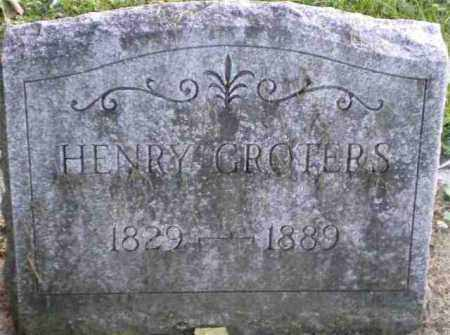 GROTERS, HENRY - Monroe County, New York | HENRY GROTERS - New York Gravestone Photos