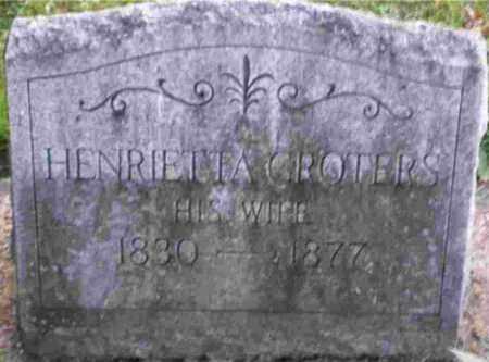 GROTERS, HENRIETTA - Monroe County, New York | HENRIETTA GROTERS - New York Gravestone Photos