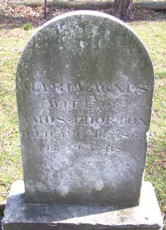 HORTON, MARIA AGNES - Monroe County, New York   MARIA AGNES HORTON - New York Gravestone Photos