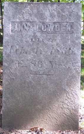 LOWDEN, ANNA - Monroe County, New York   ANNA LOWDEN - New York Gravestone Photos