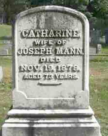 MANN, CATHERINE - Monroe County, New York | CATHERINE MANN - New York Gravestone Photos