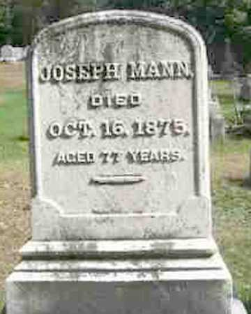 MANN, JOSEPH - Monroe County, New York | JOSEPH MANN - New York Gravestone Photos