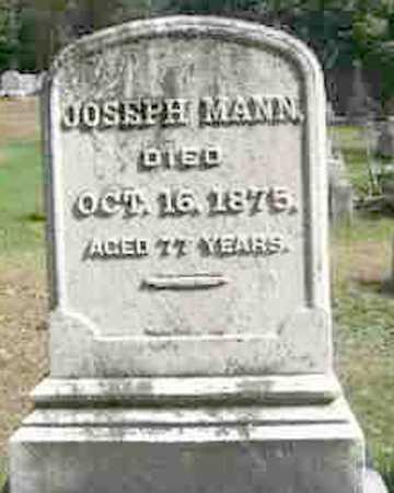 MANN, JOSEPH - Monroe County, New York | JOSEPH MANN - New York Gravestone Photos