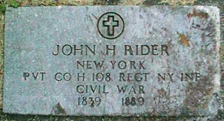 RIDER (CW), JOHN H. - Monroe County, New York | JOHN H. RIDER (CW) - New York Gravestone Photos