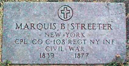 STREETER (CW), MARQUIS B. - Monroe County, New York | MARQUIS B. STREETER (CW) - New York Gravestone Photos