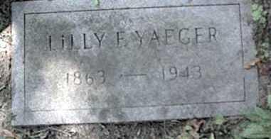 YAEGER, LILLY - Monroe County, New York | LILLY YAEGER - New York Gravestone Photos