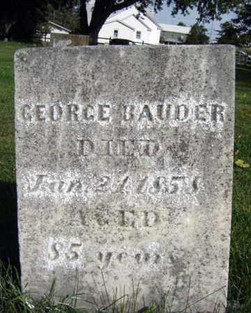 BAUDER, GEORGE - Montgomery County, New York   GEORGE BAUDER - New York Gravestone Photos
