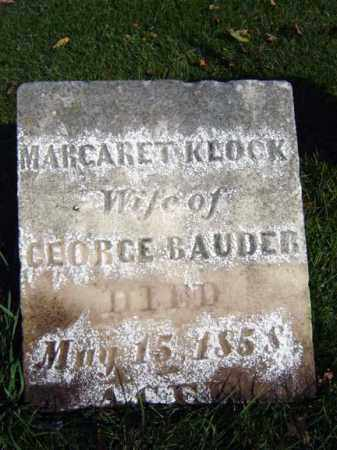 KLOCK BAUDER, MARGARET - Montgomery County, New York | MARGARET KLOCK BAUDER - New York Gravestone Photos