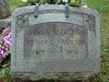 BLOCKER, ANNA - Montgomery County, New York | ANNA BLOCKER - New York Gravestone Photos