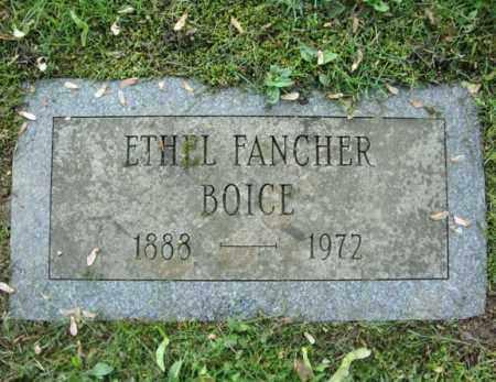 FANCHER BOICE, ETHEL - Montgomery County, New York | ETHEL FANCHER BOICE - New York Gravestone Photos