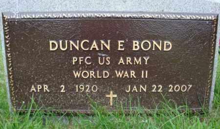 BOND (WWII), DUNCAN E - Montgomery County, New York   DUNCAN E BOND (WWII) - New York Gravestone Photos